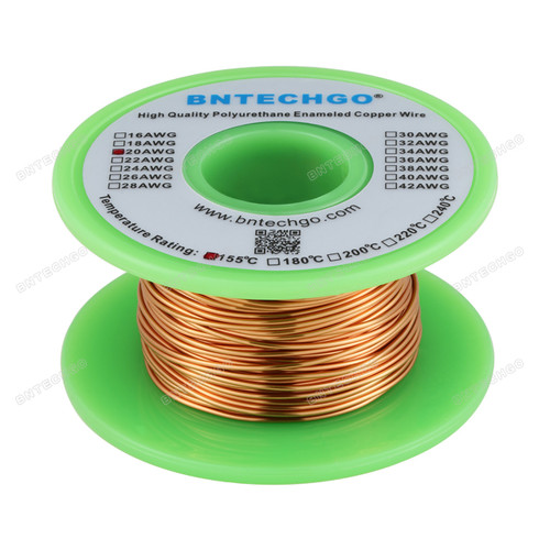 20 Gauge Enameled Magnet Wire is made of high quality copper
