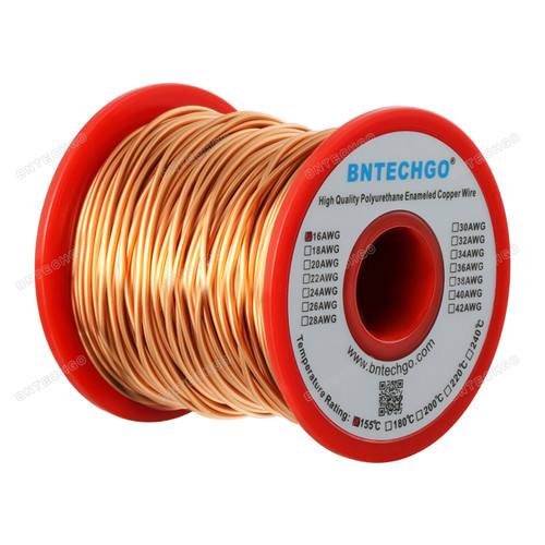 16 Gauge Enameled Magnet Wire is made of high quality copper