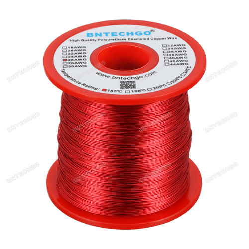 """26 Gauge Enameled Magnet Winding Wire - 1.0 lb - 0.0157"""" Diameter widely Used for Transformers Inductors"""