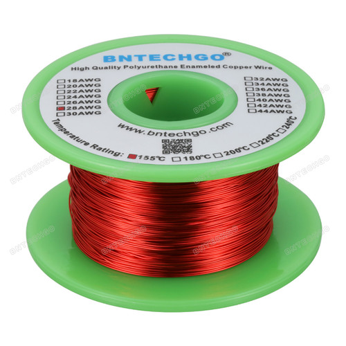 28 Gauge Enameled Magnet Wire is made of high quality copper