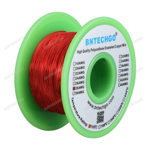"environ 113.40 g 497/' Longueur 0.0142/"" 200 C Naturel 28 Awg Gauge EMAILLE Copper magnet Wire 4 oz"
