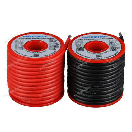 12 Gauge Silicone Wire Spool 25 ft Black and 25 ft Red