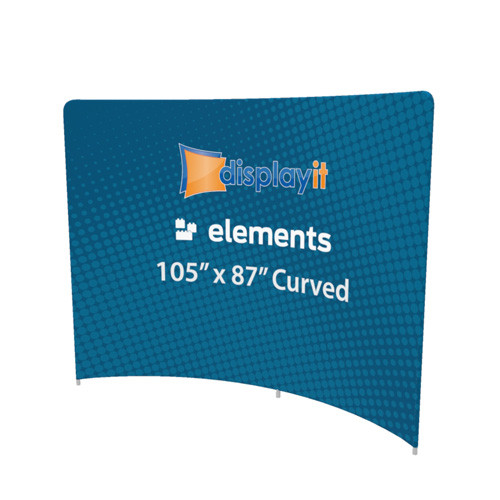 """105"""" x 87"""" Curved Elements Frame and Graphic (Mix-and-Match)"""