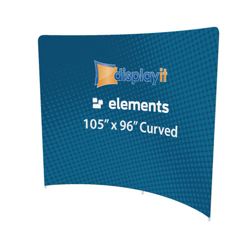 "105"" x 96"" Curved Elements Frame and Graphic (Mix-and-Match)"