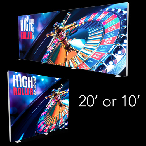 20' or 10' Flare Backlit Convertible Display