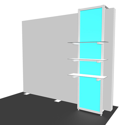 Flare Accessory - Product Support Shelf Kiosk