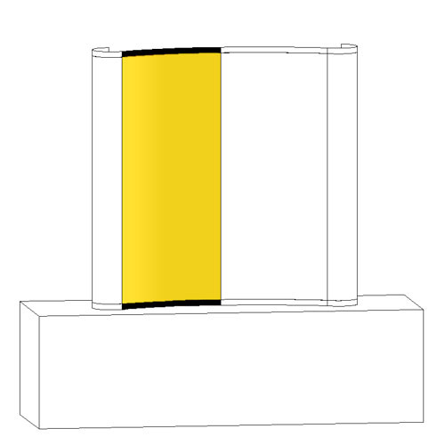 Curved Table Top Pop-up - Replacement Graphic - Concave