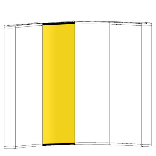 Curved Pop-up - Replacement Graphic - Concave