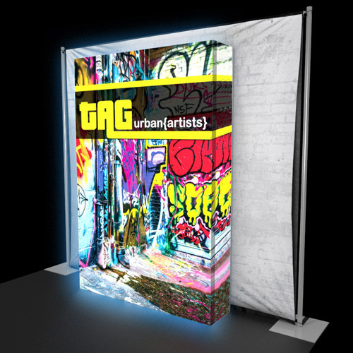 10' x 10' Graffiti:Plus Backlit Display with Exhibit-to-Go - Kit 01
