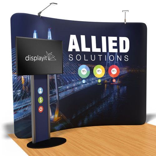 10 Foot Helium Display with Monitor Stand