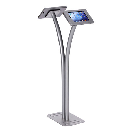 Dual Tablet Stand - Curved Pole