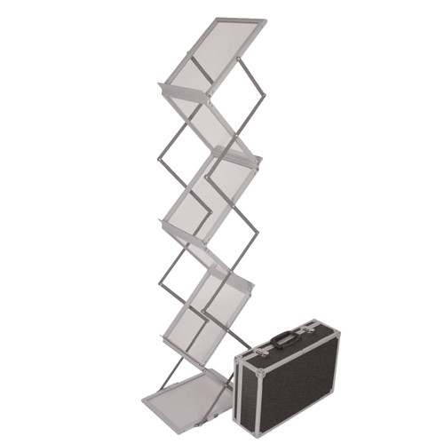 6 Pocket Silver Displayit Collapsible Literature Stand