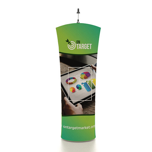 """33"""" x 80"""" Mobi Banner Stand - Arch Top"""
