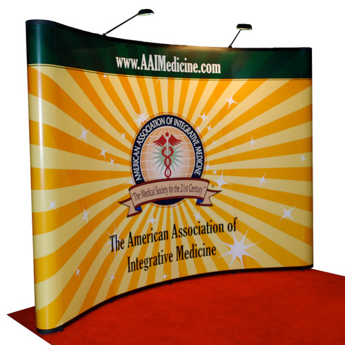 10' x 10' Curved Graphic Mural Pop-up