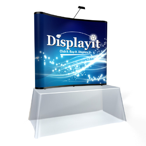6 Foot Curved Table Top Graphic Mural Pop-up