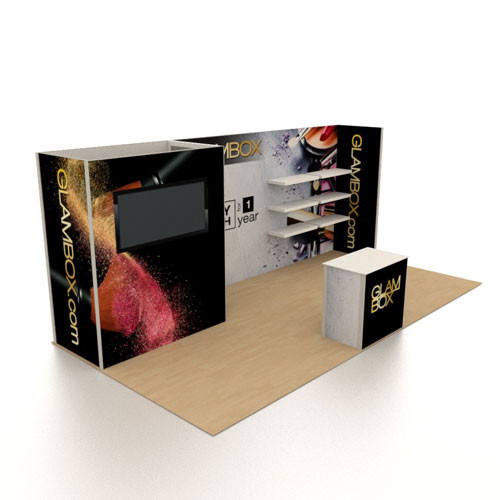 10' x 20' Rental Display Closet with Monitor - Kit 01 (FanFav)