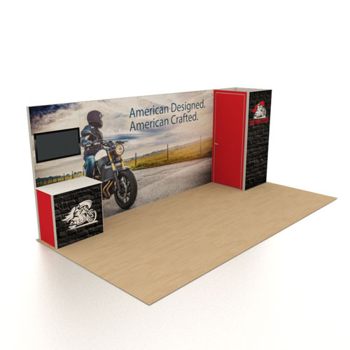 10' x 20' Rental Display with Large Graphic Wall - Kit 03