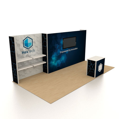 10' x 20' Rental Display with Large Monitor - Kit 04