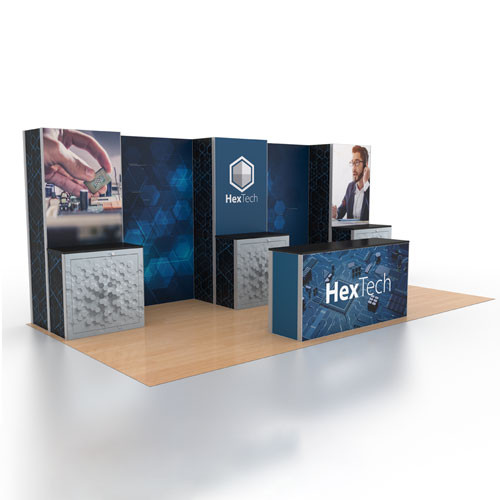 10' x 20' Rental Display with Reception Counter - Kit 07