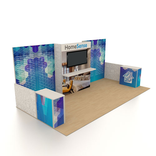 10' x 20' Rental Display with Slatwall Panels - Kit 08
