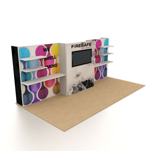 10' x 20' Rental Display with Product Shelving - Kit 10
