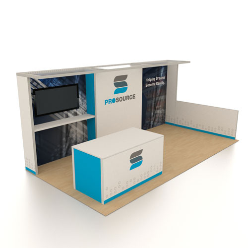 10' x 20' Rental Display with Big Welcome Counter - Kit 12
