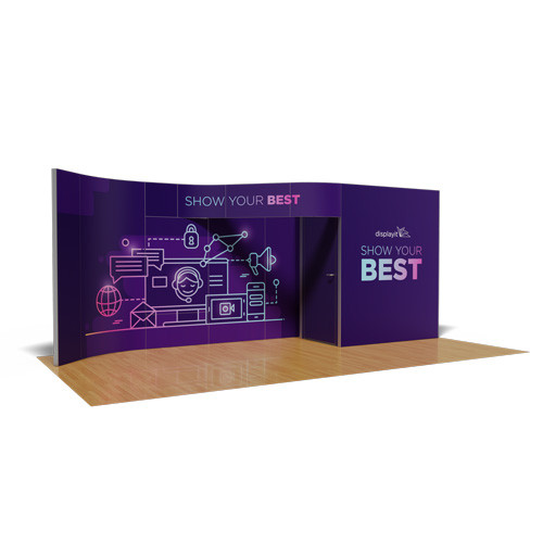 10' x 20' Rental Display with Curved Header - Kit 14