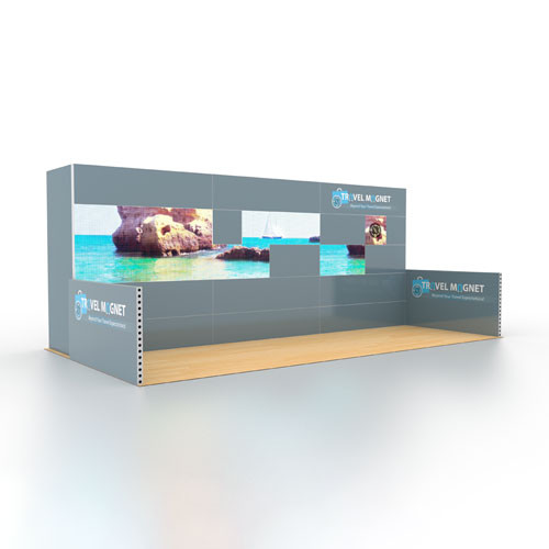10' x 20' Rental Display with LED Video Mosaic Strip - Kit 21