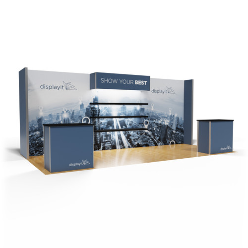 10' x 20' Rental Display with Product Placement Shelves - Kit 24