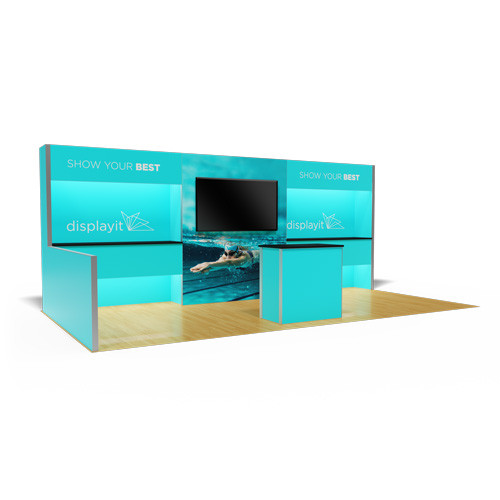 10' x 20' Rental Display with Floating Countertops - Kit 25