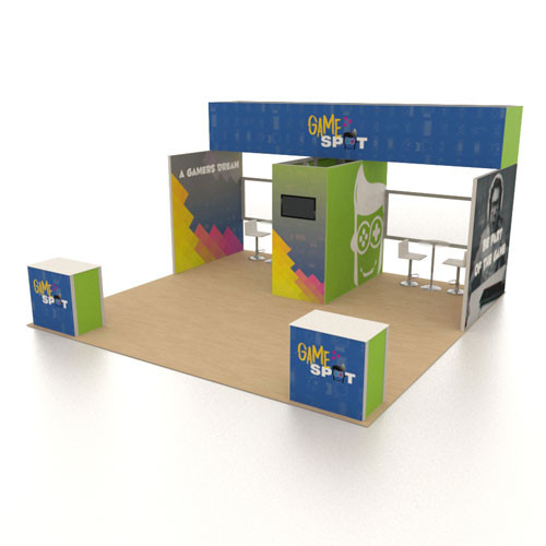 20' x 20' Rental Display with Semi-Private Meeting Space - Kit 08