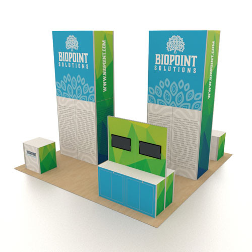 20' x 20' Rental Display Two Towers with Slatwall - Kit 09