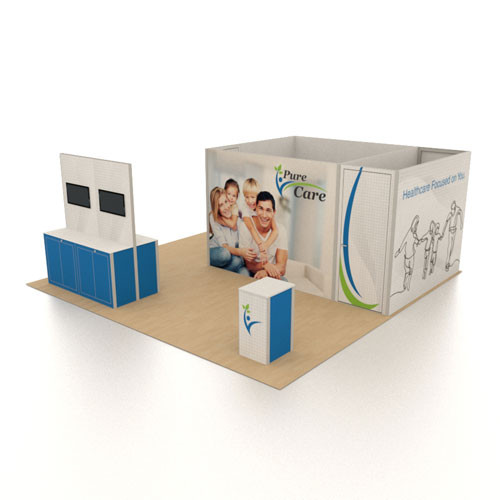 20' x 20' Rental Display with Conference Room and Storage Space - Kit 10