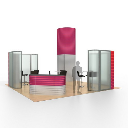 20' x 20' Rental Display with Privacy Screens - Kit 14