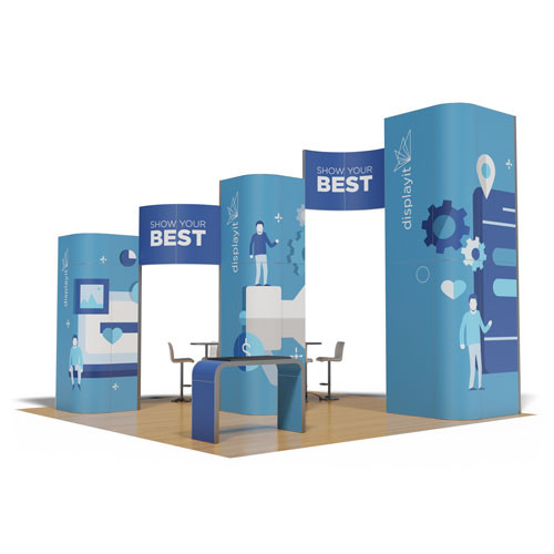 20' x 20' Rental Display with Three Towers - Kit 17