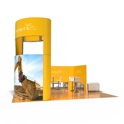 20' x 20' Rental Display with Oval Tower - Kit 23