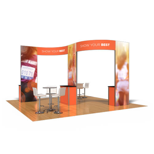 20' x 20' Rental Display with 3 Kiosks - Kit 32