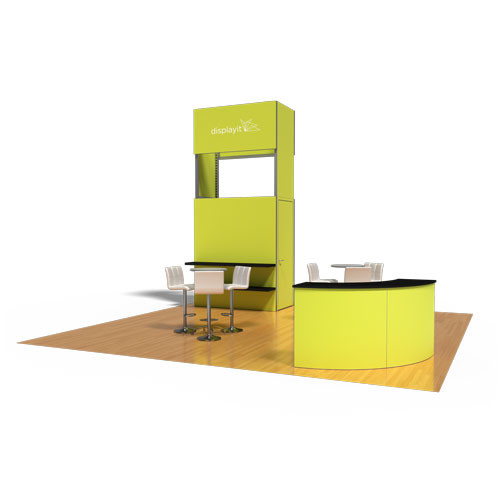20' x 20' Rental Display with Tower and Curved Reception Counter - Kit 33
