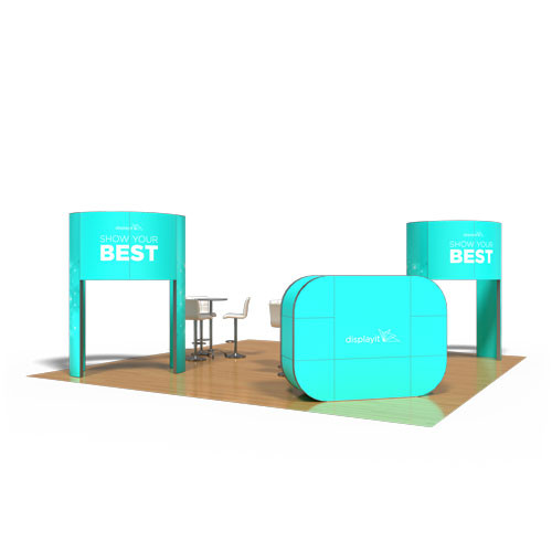 20' x 20' Rental Display with Oval Brand Carrier - Kit 34