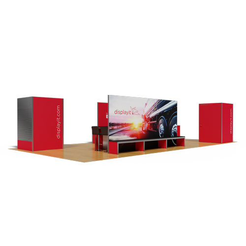 20' x 40' Rental Display with LED Wall and Meeting Space - Kit 03