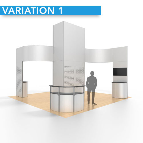 20' x 20' Performance Rental Display Tower - Design 01 - Variation 1