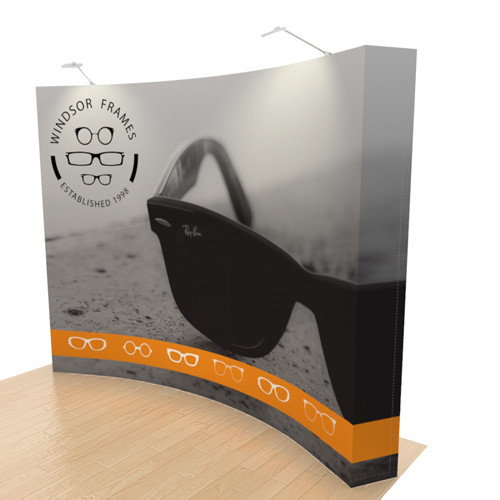 10 Foot Curved Quick-Up Display