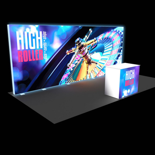 20' x 20' Flare Backlit Rental Display with Counter