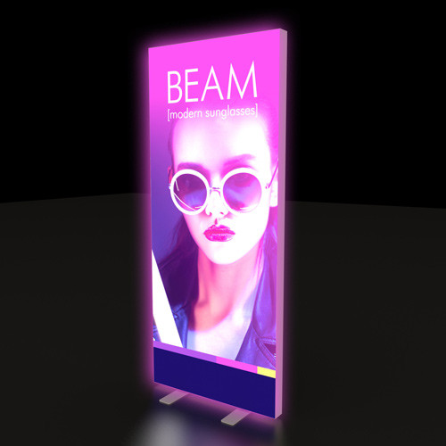 "33"" x 79"" Backlit Renew Bright Banner Stand"