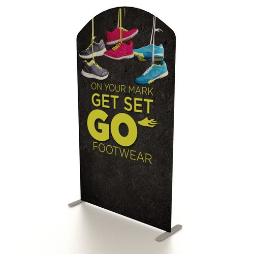 "59"" x 101"" Renew XL Fabric Banner Stand - Arch Top"