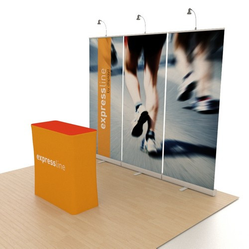 Expressline - 10' x 10' Retractable Banner Stand Kit