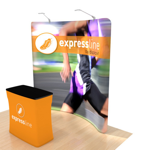 Expressline - 8 Foot Curved Helium Display