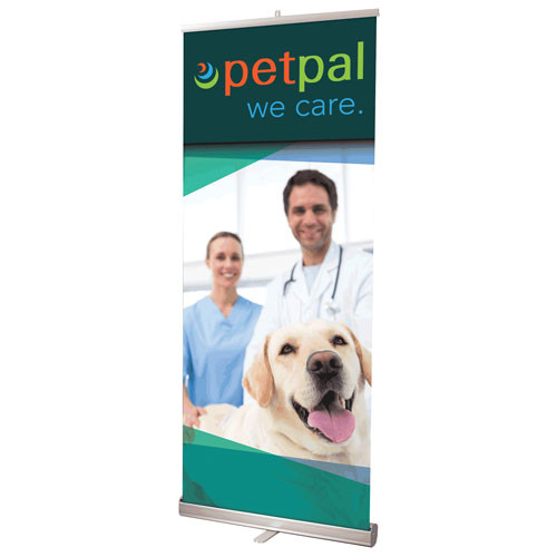 """33"""" x 83.5"""" Reveal Retractable Banner Stand"""
