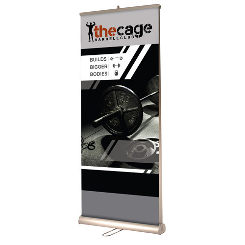"33"" x 83.5"" Double-Sided Reveal Retractable Banner Stand"