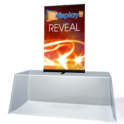 """33"""" x 56"""" Reveal Table Top Retractable Banner Stand"""
